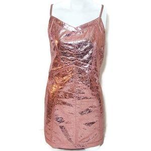 For Love and Lemons Dresses - NWOT For Love And Lemons Luna Metallic Dress Rose